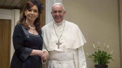 El Papa, nuevo abogado de Cristina