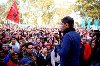 Con críticas a la gestión de Vidal, Axel Kicillof desembarcó en Carmen de Patagones