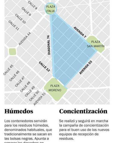 Arranca en La Plata un nuevo esquema para sacar la basura con 100 contenedores