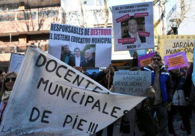 Arroyo no da marcha atrás y se agudiza la crisis con los docentes municipales