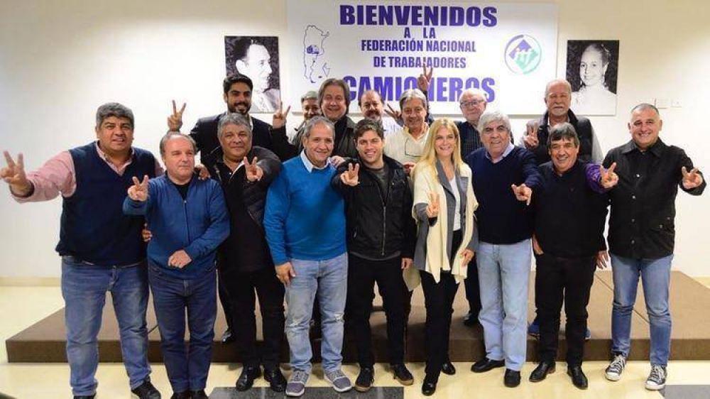 La fórmula Kicillof-Magario sumó el respaldo del frente sindical de Hugo Moyano