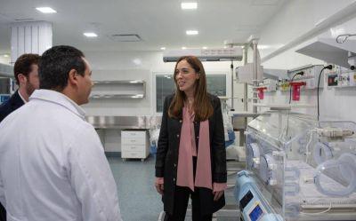 Visita sorpresa de Vidal: supervisó obras de renovación del área de neonatología del hospital de Merlo