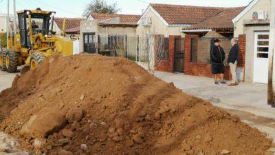 El intendente Uset visitó la obra de pavimentación de Buchardo