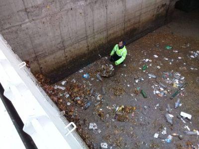 """Tras las lluvias, OSSE supervisó el Desagüe Pluvial """"Arroyo del Barco"""""""