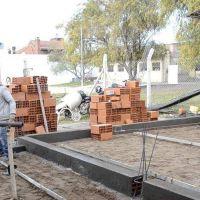 López presenció los avances en la obra de ampliación de la Técnica Nº1