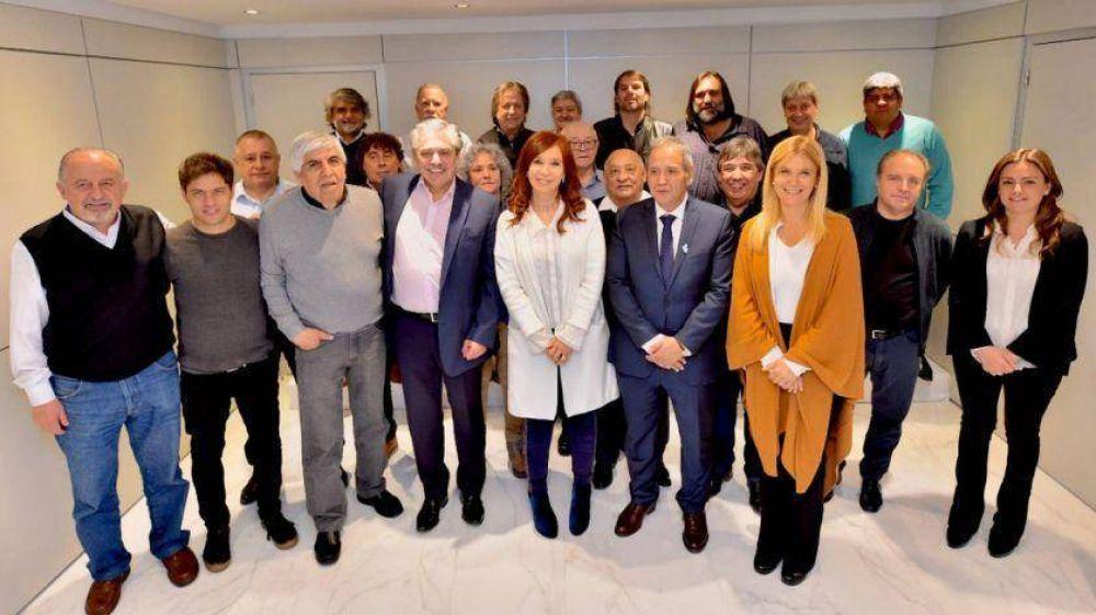 Alberto F. y CFK se mostraron juntos en un acto con Moyano