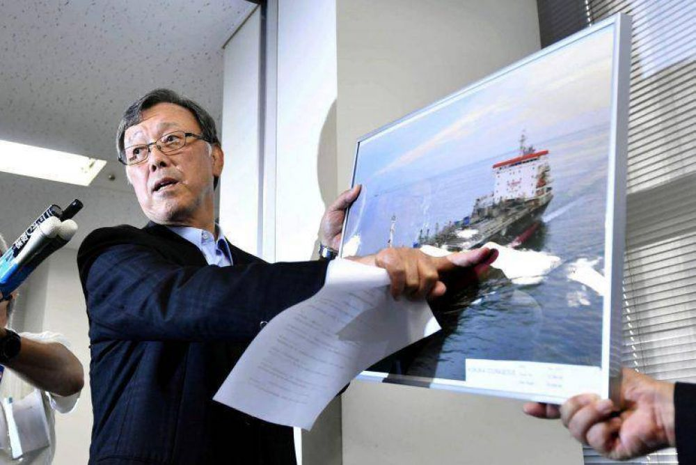 El propietario del petrolero japones atacado asegura que fue golpeado por un misil y no una mina