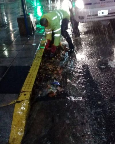 Temporal: ardua tarea de OSSE en bocas de tormenta