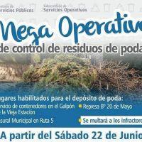 El Municipio multará a los vecinos que arrojen sus residuos de poda en lugares no autorizados