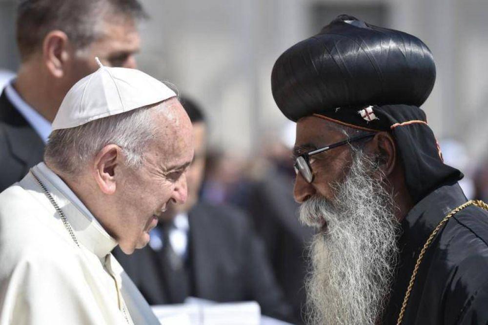 Tercer encuentro entre Francisco y Tawadros II, jefe de la Iglesia Ortodoxa Copta