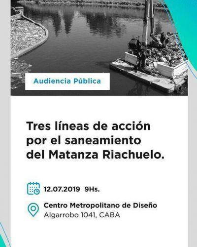 Audiencia Pública – ACUMAR: «Tres líneas de acción para el saneamiento de la Cuenca Matanza Riachuelo»