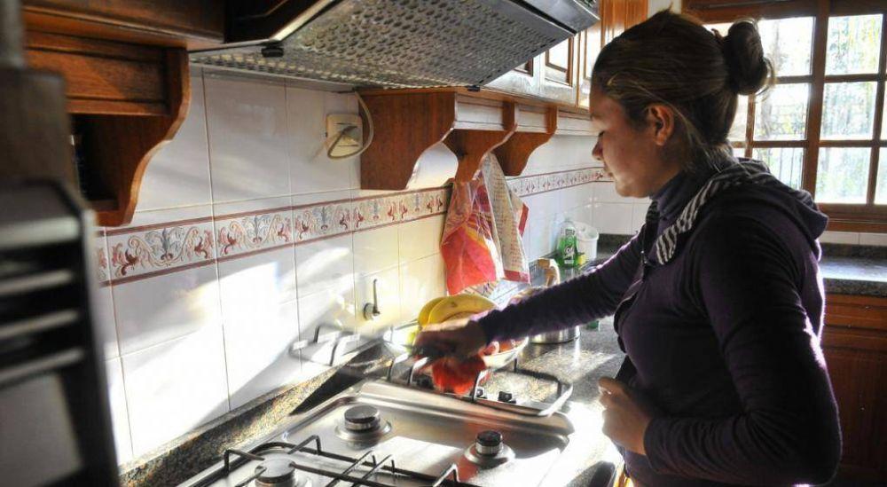 Aumento del 30% para personal de casas particulares