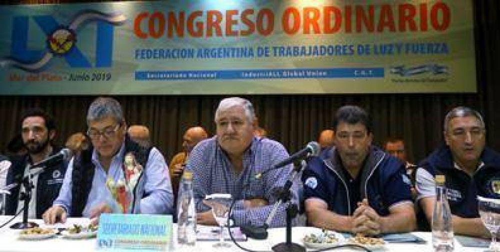 Con el ojo en las elecciones y dudas sobre el apagón, la FATLyF abrió su 61º Congreso Ordinario