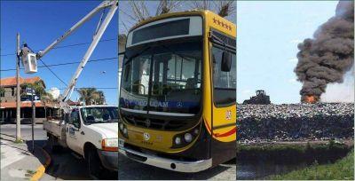 Reiteran pedido de informes por la recolección de basura, las cámaras de seguridad y los colectivos