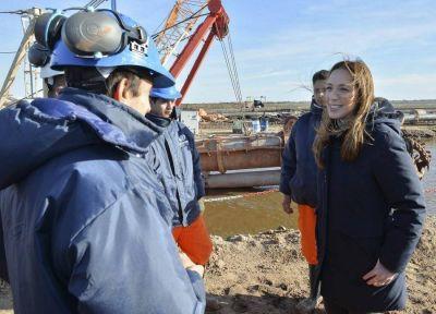 Roque Pérez: Vidal supervisó las obras hidráulicas en la cuenca del Río Salado