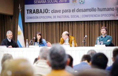 """El Trabajo y """"la tercera guerra silenciosa"""" en el debate de la Semana Social 2019"""