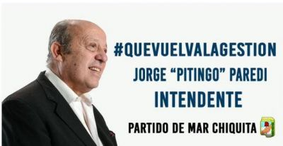 "Jorge Paredi: ""Con nosotros esta siesta se termina"""