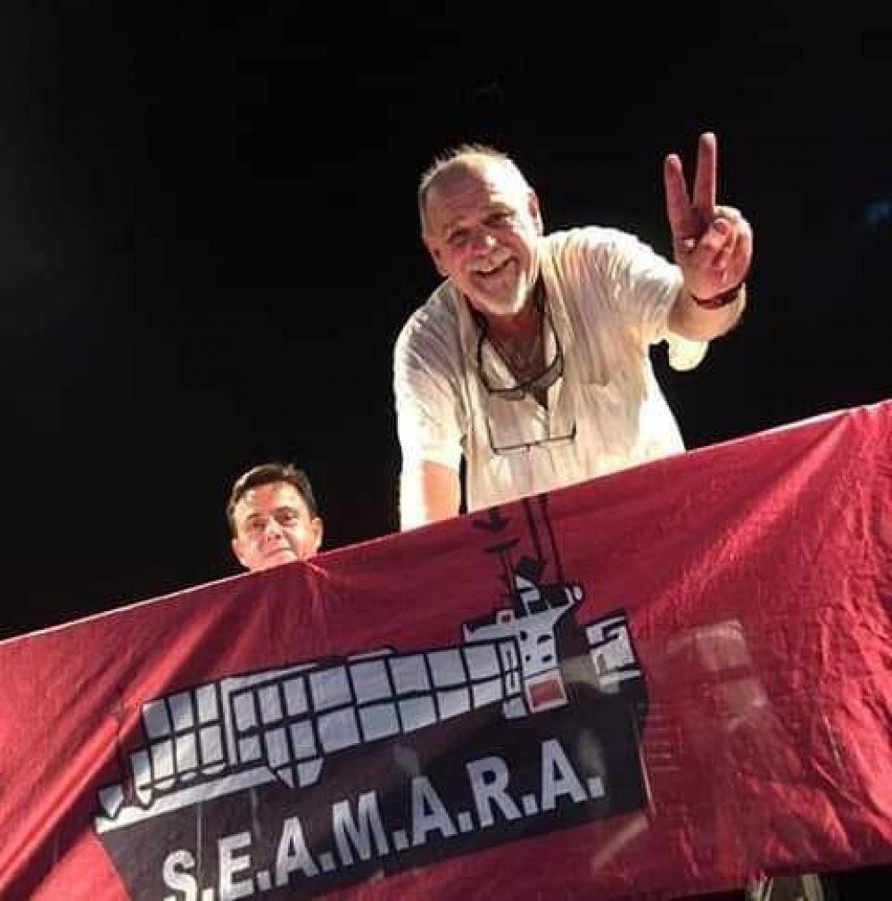 """Contundente triunfo electoral del """"Vasco"""" Lizarraga en el SEAMARA"""