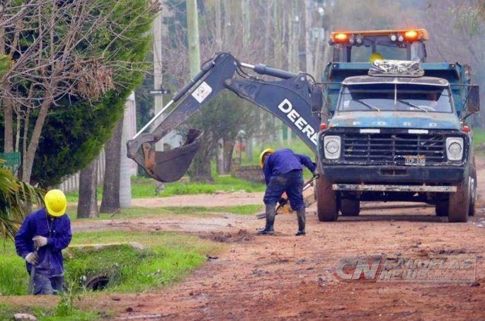 Obras de saneamiento en Alejandro Petión