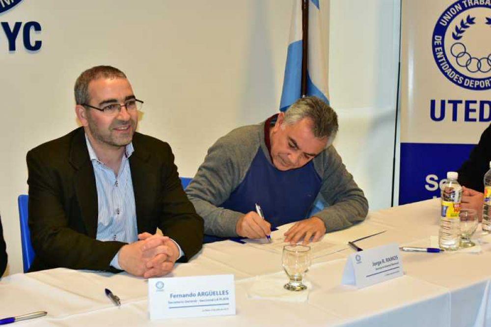 Clubes, gremios y otras entidades acordaron con UTEDYC ampliar derechos a trabajadoras y trabajadores