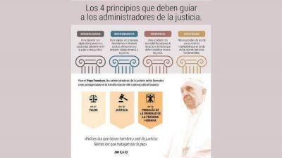 En julio el Papa invita a rezar por los administradores de justicia