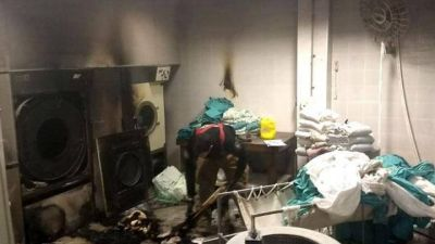 """Incendio en el lavadero del hospital Rossi: """"No tenemos ningún informe oficial"""", dijeron desde CICOP"""