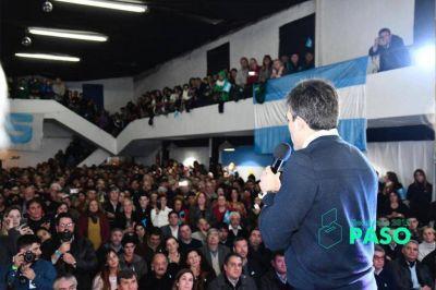 ¿Unidad hasta que duela? Florentín junto a Jimena en el acto de lanzamiento de Facundo López