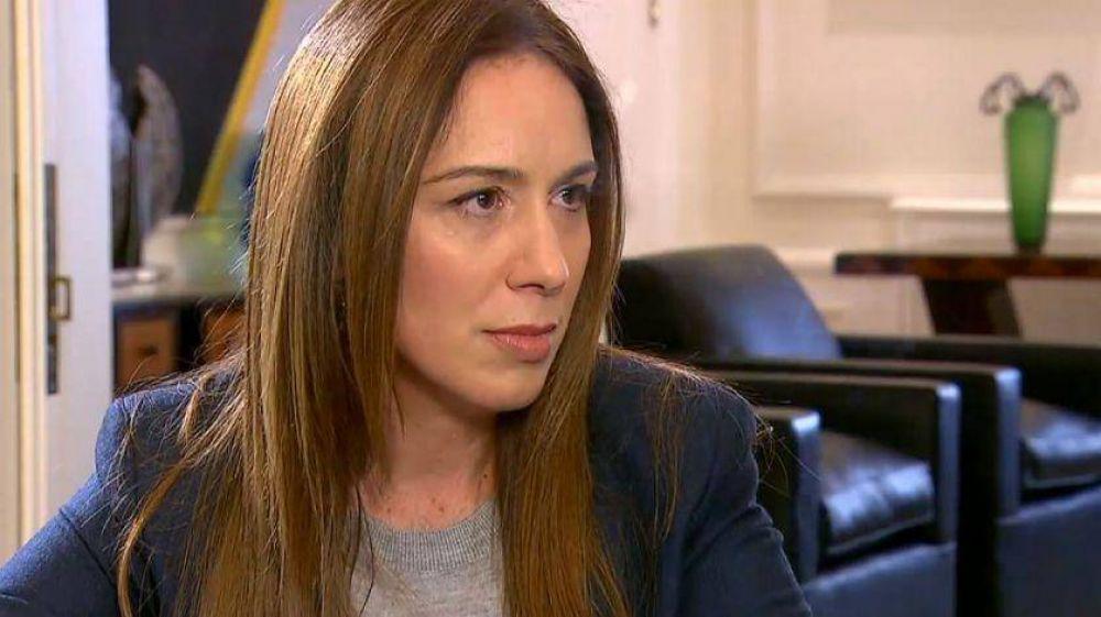 María Eugenia Vidal admitió el