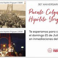 Se preparan actividades para festejar el 90° Aniversario de la inauguración del Puente Colgante