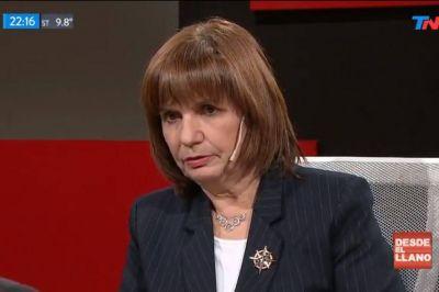 Patricia Bullrich, contra los sindicalistas: