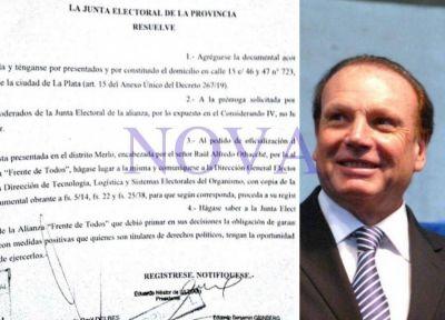 Merlo: Othacehé fue autorizado a presentar lista del Frente de Todos en las PASO por resolución de la Junta Electoral