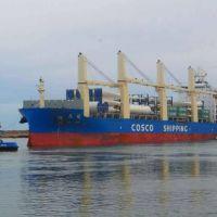 Puerto Quequén consolidado como puerta de ingreso para los Parques Eólicos