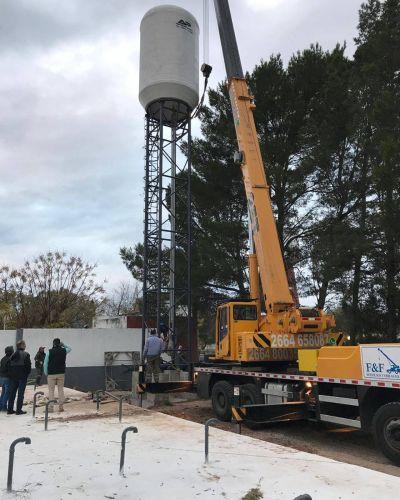 La obra de la planta potabilizadora de Balde progresa a buen ritmo