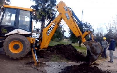 GRAL.BELGRANO: A buen ritmo avanzan las obras de pavimentación y construcción de cloacas