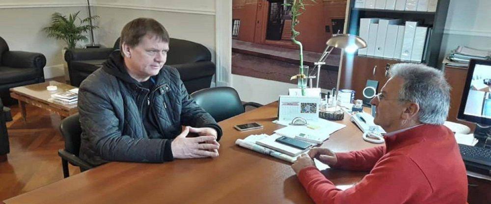 Gestionan la finalización de las obras del Programa Hábitat en Nogoyá
