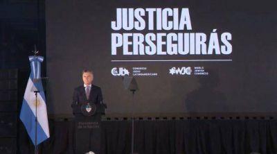 Mauricio Macri presentó el libro «Justicia Perseguirás» del Congreso Judío Latinoamericano