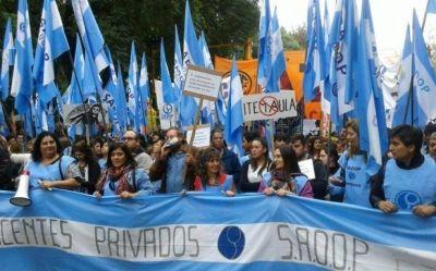 SADOP propone quitar subsidios a escuelas privadas que despidan sin causa