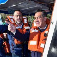Una recorrida por el río Matanza para ayudar en la reelección de María Eugenia Vidal