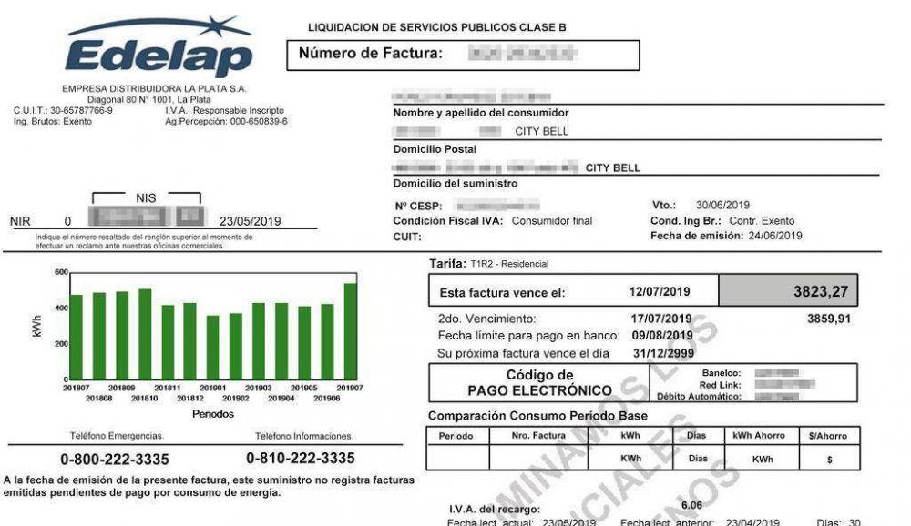 Apagón: quienes no recibieron la factura por 0 pesos deben pagarla y esperar a la siguiente