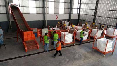 Prueba de recolección y clasificación de residuos