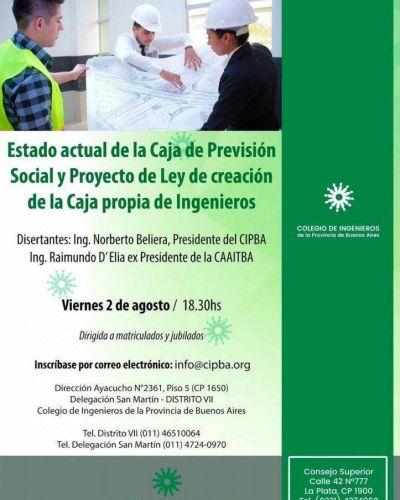 Charla sobre el sistema previsional del CIPBA en San Martín