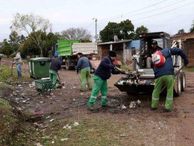 Operativos de limpieza integral que se realizan de manera paralela en diferentes barrios
