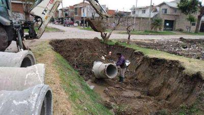 Tigre continúa con la inversión municipal en obras pluviales en Troncos del Talar