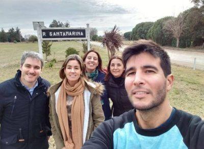 Diez dialogó con vecinos de Santamarina quienes le pidieron más presencia del Estado Municipal