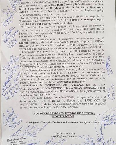 La CGT fue a Tucumán y le pidió a Macri que devuelva la obra social de los azucareros