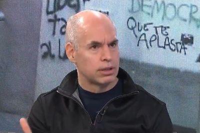El enojo de Horacio Rodríguez Larreta al enterarse en vivo las pintadas en el Cabildo