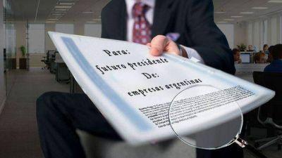 Los empresarios ya tienen lista su agenda de reclamos para el próximo gobierno