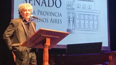 El Senado bonaerense galardonó a Ignacio Montoya Carlotto