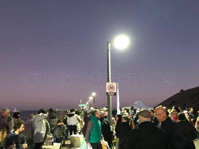 Fotos: La Escollera lució su renovado pavimento e iluminación LED