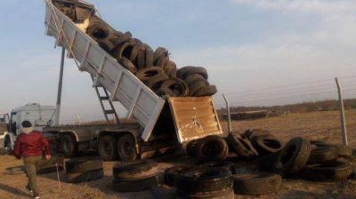 Debutó con éxito en Casilda el primer centro de acopio de neumáticos